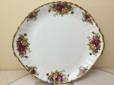 Royal Albert Old Country Roses Cake Plate 1962 Unused 2nd