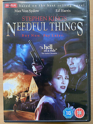 Needful Things DVD 1993 Stephen King Cult Fantasy Horror Film w/ Ed Harris