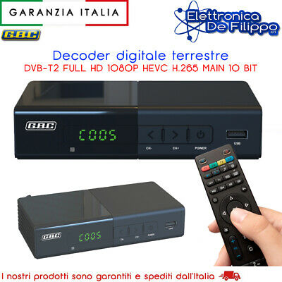 Decoder Per Digitale Terrestre Registra i tuoi programmi TV USB PVR HD DVBT2