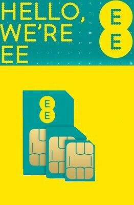 £5 Credit EE Pay As You Go PAYG Trio (Nano/Micro/Standard) Combi Multi SIM Card