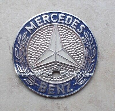 Vintage MERCEDES BENZ emblem badge sign car old automobile vtg