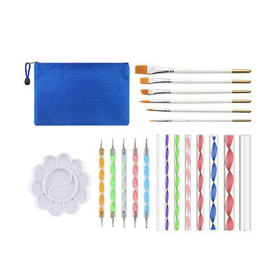 Pen Painting Stylus Set 20PCS Tray Drawing Paint Rocks and Coloring Tools