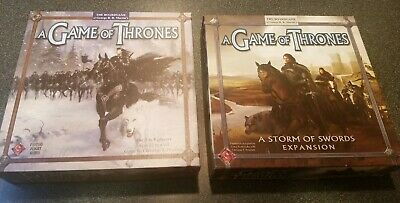 A Game of Thrones First Edition with A Storm of Swords Expansion