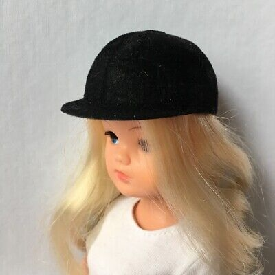 Pedigree Sindy black riding hat crash helmet flock velvet SELECTION ShimmyShim