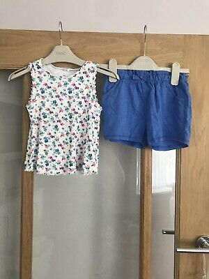 Next Girls Summer Outfit 3-4 Years Shorts & Top