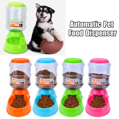 3.5L Automatic Pet Food Dispenser Dog Cat Feeder Bowl Dish  2-3 Days UK !