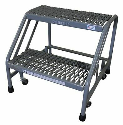 "COTTERMAN 1302N2626A3E10B3C1P6 Mobile Step Stand,20 ""H,500 lb.,Steel"