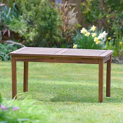 Outdoor Garden Coffee Wooden Table Hardwood Acacia Side Plant Theatre