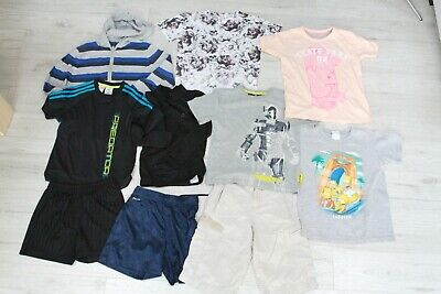 Boys Bundle T-shirts Doctor Who Simpson Shorts River Island Adidas Next 7-8