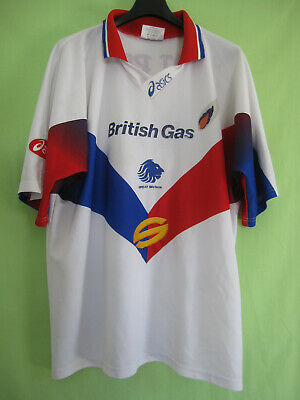 Maillot Rugby Asics Great Britain Angleterre Vintage British Gas Jersey - L