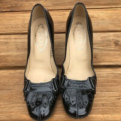 4945331269 TODS BLACK PATENT leather loafers - SPRING SHOE TREND - $15.00 ...