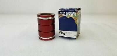 """PACIFIC BEARING  FLCR16, (LOT OF 2) 1"""" ID X 1.563"""" OD, Closed Linear Bearing"""