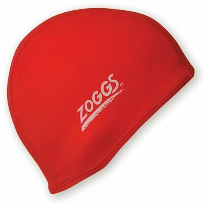 Zoggs Deluxe stretch Spandex swimming cap - (Colour: Red) One size