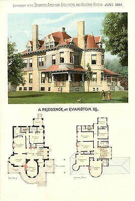Evanston, Ill.  -   Scientific American Architects and Builders Edition - 1894