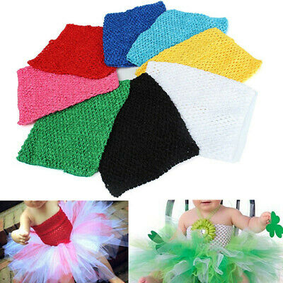 9 Inch Children Girls Crochet Tube Top Élastique Serre-Tête Head Hair Band DIY