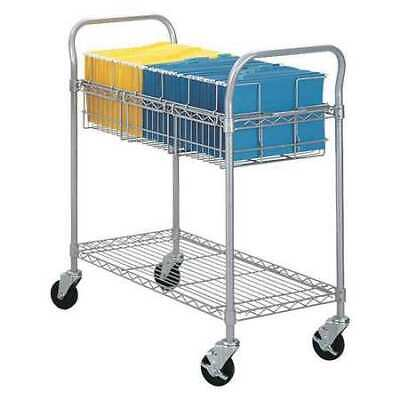 SAFCO 5236GR Wire Mail Cart,36W