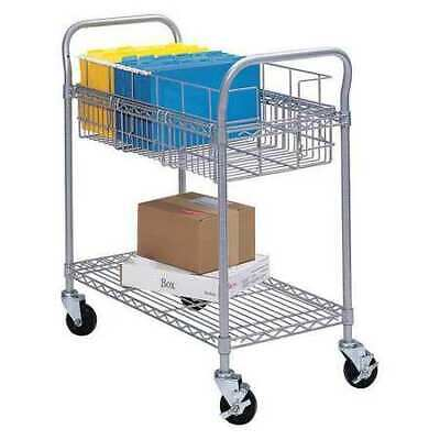 SAFCO 5235GR Wire Mail Cart,24W