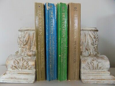 Lot 4 The Lord of The Rings Books Vintage JRR Tolkien