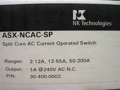 Nk Technologies ASX-NCAC-SP Split core Ac Current Operated Switch