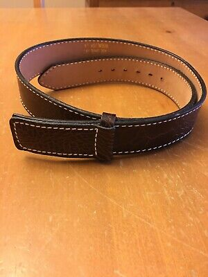 Mens New JUSTIN Sea Turtle Print Brown Leather Belt W/ Leather Buckle Size 36