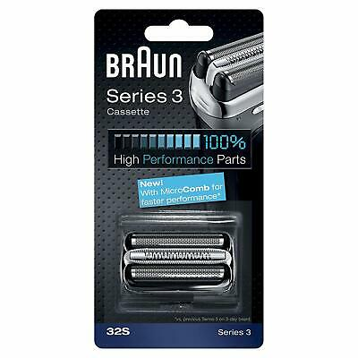 Braun 32S Series 3 Electric Shaver Replacement Foil & Cutter Cassette, Silver