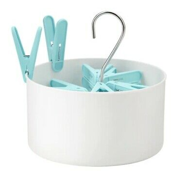 Ikea Torkis Peg Basket with 30 Clothes Pegs. In and outdoor.