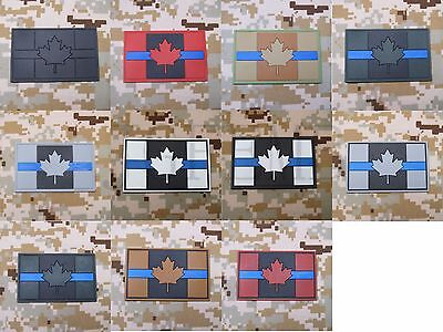 The thin blue line Canada Red Maple flag 3D PVC Patch