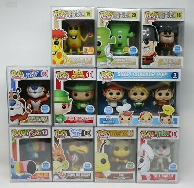 Ad icon Funko Pop LOT Of 10 Toucan Sam, Tony the Tiger, Lucky, Trix, Sonny -MINT