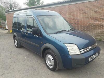 Ford Transit T220 Connect Tourneo  6 Seat + Wheelchair Vehicle 2008 08 In Blue