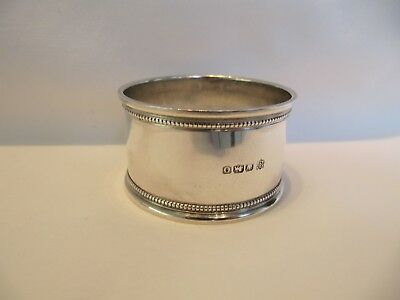 Solid Silver Napkin Ring -  Sheffield 1931 - Fenton Brothers