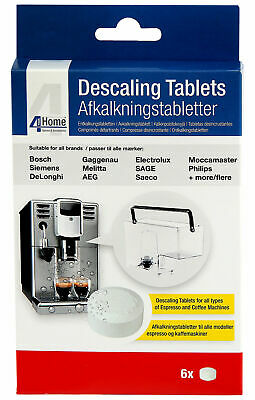 20 cleaning 10 descaling tablets for Saeco AEG Jura Krups WMF Philips Delonghi