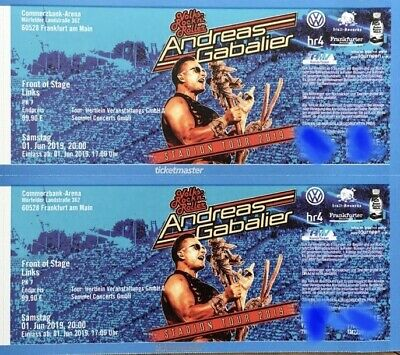 2 Tickets Andreas Gabalier Frankfurt Commerzbank Arena 01.06. - Front Of Stage