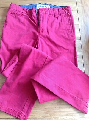Boden Boys Red Chinos - Size 28L