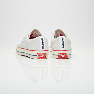 Converse X Undefeated One Star Ox Mens 158893C Blanc De Blanc/Red/Blue 9 - 9.5