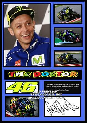 (#88.)  VALENTINO ROSSI  MOTO GP SIGNED a4 PHOTOGRAPH REPRINT GREAT GIFT #######