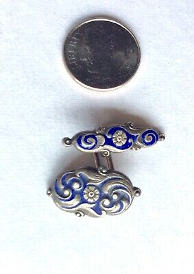 ORNATE OLD ART DECO ART NOUVEAU MAN'S STERLING CUFF LINK CA. 1930's (ONLY ONE)
