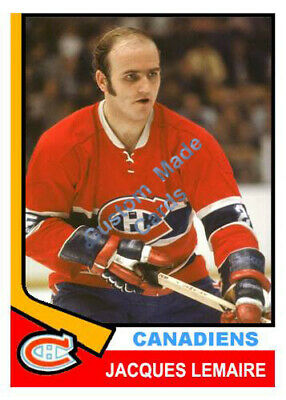 Custom made Topps 1974-75  Montreal Canadiens Jacques Lemaire Hockey Card red