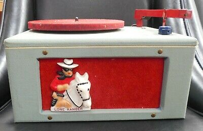 THE LONE RANGER 1950's RECORD PLAYER  VERY RARE! LONE RANGER LIGHTS UP.