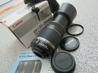 Genuine Canon EF-S 55-250mm F/4-5.6 IS Image Stabilizer Zoom Lens (BM24)