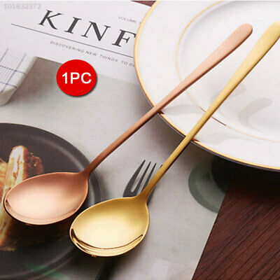 F2AC Stainless Steel Long Handle Spoon Kitchen Home Gifts Stainless Steel Spoon