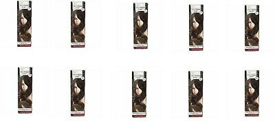 """10 Mia Beauty Clip-n-Dipped Ends 14"""" Ombre Hair Extensions Medium/Light Brown 10"""