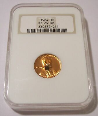 NGC 1964 Lincoln Memorial Cent UNC PF69 RED*