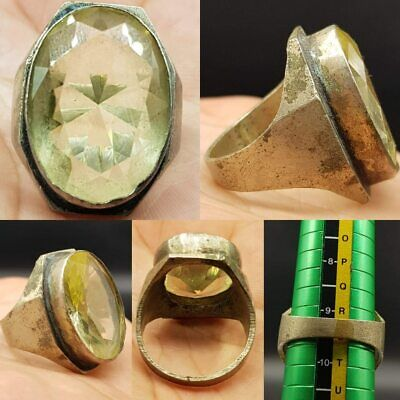 Medieval Old Crystal rock Stone Beautiful Lovely Ring   # 21