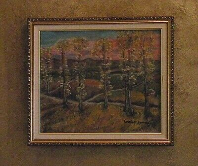 George Gardner Symons early 1900s Impressionist Landscape Oil on Canvas