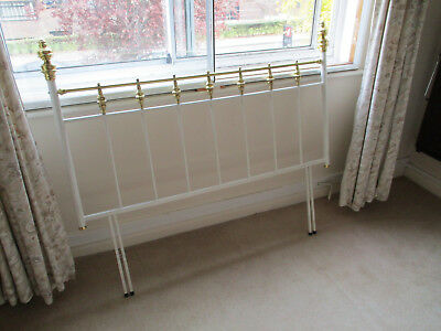 Bedstead White & Brass Effect Victorian Style 5Ft Collection Only Headboard