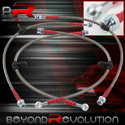 Honda Accord 98-02 Stainless Steel Front /& Rear Oil Brake Line Cable Silver//Red