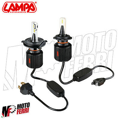Mf1347 - Kit 2 Lampadine Fanale Top Light Led H4 H7 Yamaha 500 Tmax 2001 - 2011