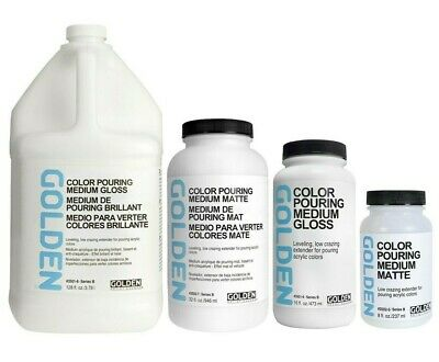 GOLDEN ACRYLIC Colour Color Pouring Medium GLOSS : 236ml, 473ml, 946ml, 3.78l