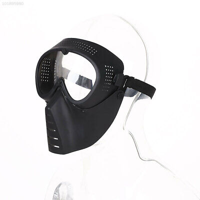 E891 Protective Airsoft Paintball CS Tactical Full Face Lens Helmet Safety Mask