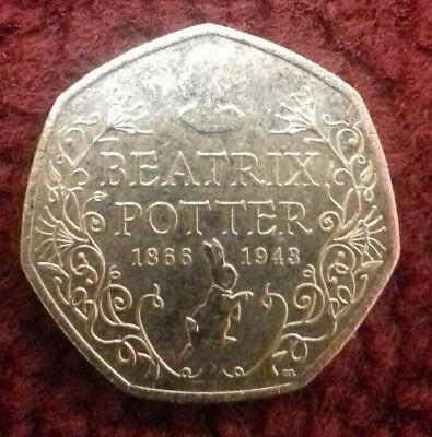Beatrix Potter 150th Anniversary 50 p Fifty Pence coin 2016 circulated